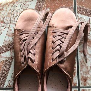 H&M Pink Satin Platform Sneakers
